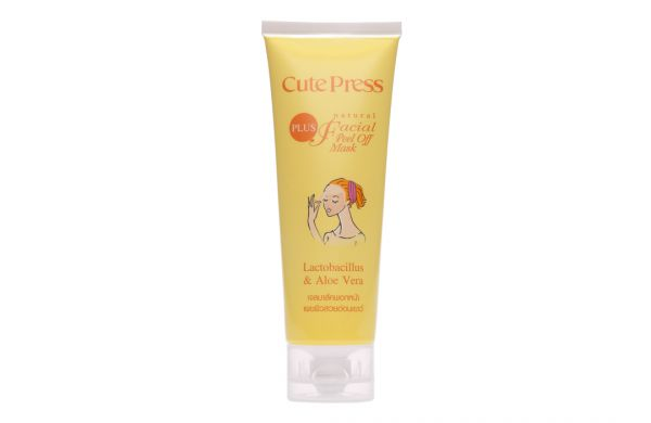 Cute press Plus Natural Facial  Peel off Mask Lactobacillus Extra & Aloe Vera Extract  75г