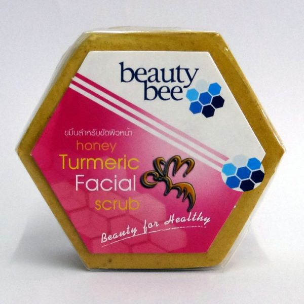Beauty Bee honey turmeric facial scrub