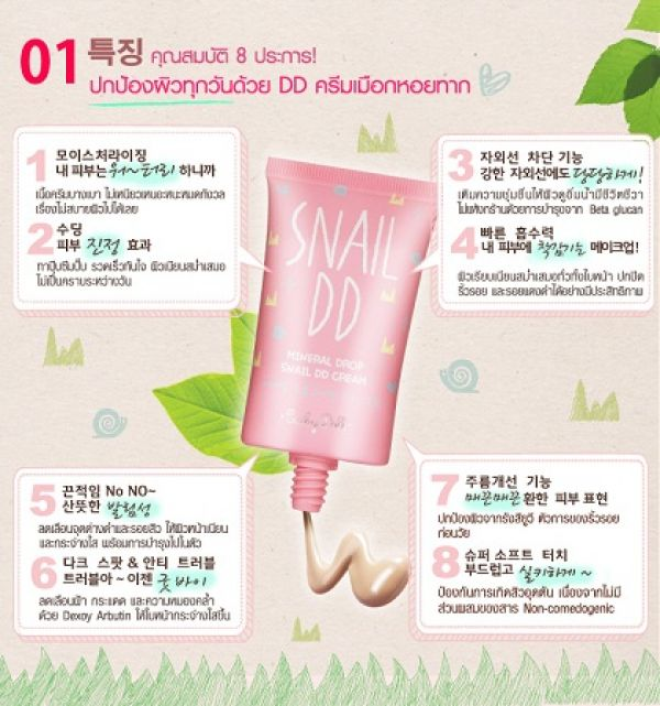Cathy Doll Mineral Drop Snail DD Cream 30мл