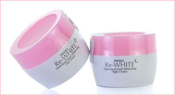 Mistine Re-white Hydrolized Pearl Whitening  Night + Day Creams Cream 60мл