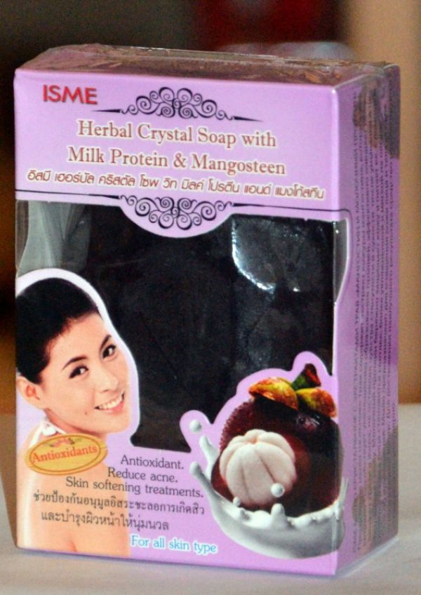 Isme Herbal Crystal Soap with Milk Protein & Mangosteen 80г