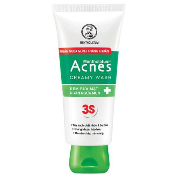 Mentholatum Medicated Acnes Creamy Wash 25г