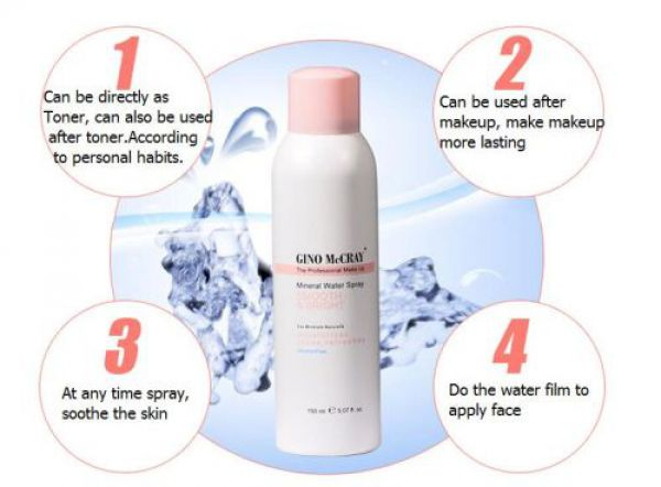 GINO McCRAY The Professional Make Up Mineral Water Spary 150мл