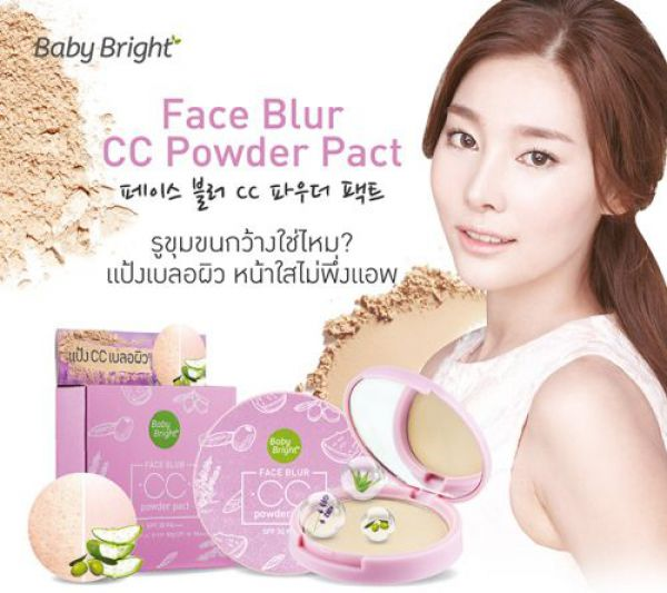 Baby Bright Face Blur CC Powder Pact SPF30 PA+++ 12г