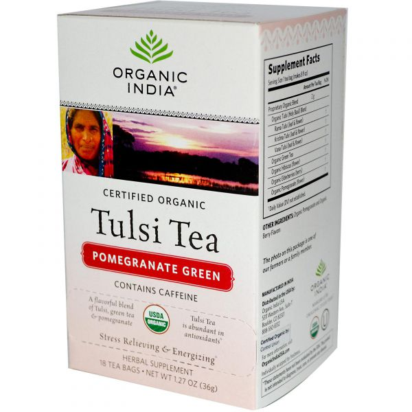Organic India Tulsi Green Tea Pomegranate