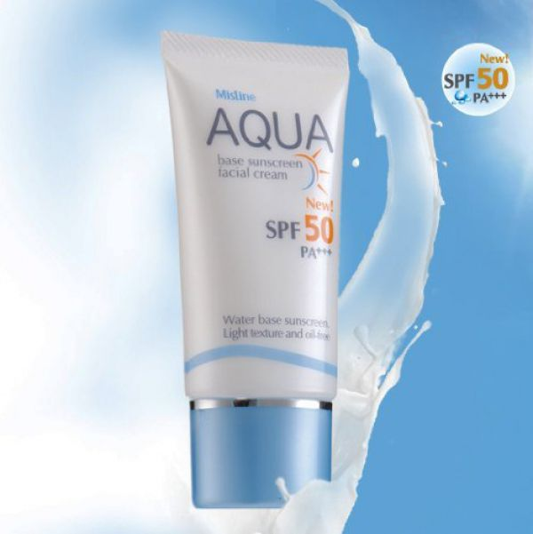 Mistine Aqua Base Sunscreen Facial Cream SPF 50 PA+++