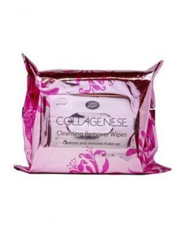 Boots Collagenese Face Cleansing Make up Remover  Wipes 30 шт