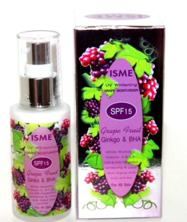 Isme Uv Whitening Grape Moisturizer SPF 15 40мл