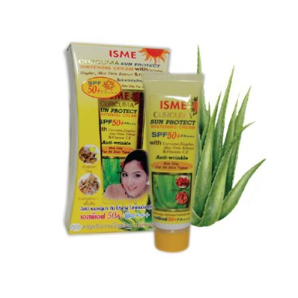 Isme Curcuma Sun Protect Facial Sunscreen Sunblock Whitening Cream Spf 50 Pa+++  20 мл