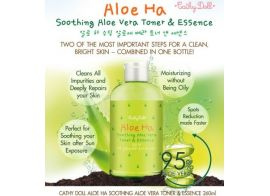 Cathy Doll Aloe Ha Soothing Aloe Vera Toner & Essence 260мл