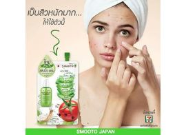 Smooto Tomato Aloe Snail White & Acne Sleeping Serum 10мл