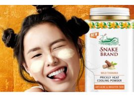 Snake Brand Prickly Heat Cooling Powder wild Tanaka 50г