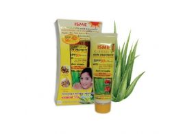 Isme Curcuma Sun Protect Facial Sunscreen Sunblock Whitening Cream Spf 50 Pa+++